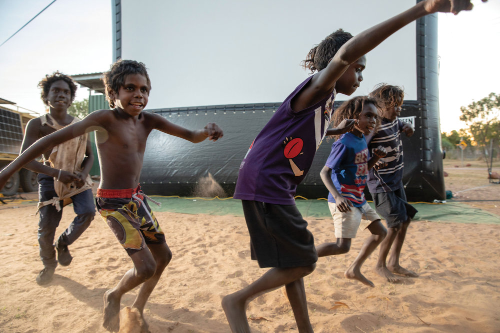 Northern Territory community program - An important feature of the NTTFF program, screenings in Indigenous communities and remote centres across the Northern Territory supported by a community workshop program.
