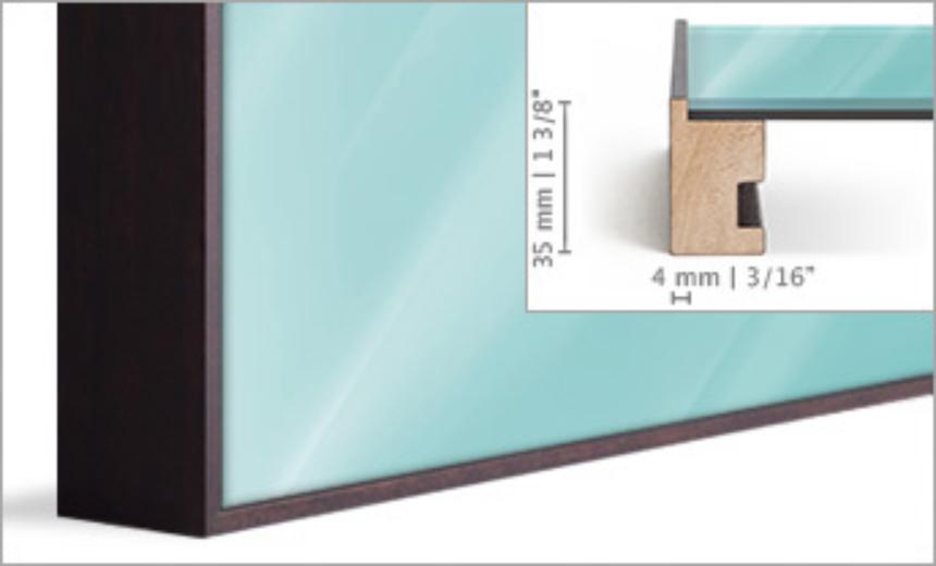 Solid wood art box profile.