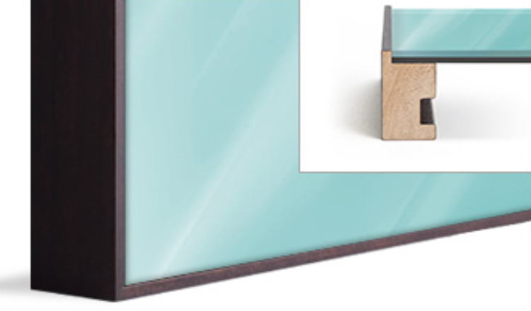 Art box trim framing, solid wood