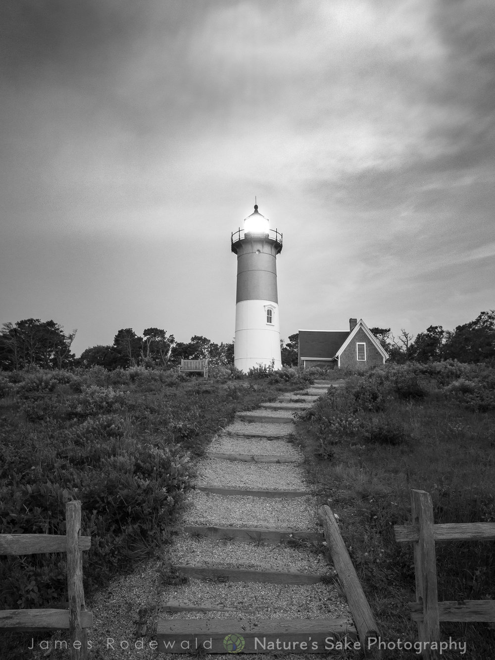 """Nauset Light B&W"" to benefit Association to Preserve Cape Cod"