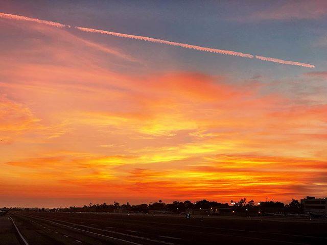 Santa Monica airport Sunset