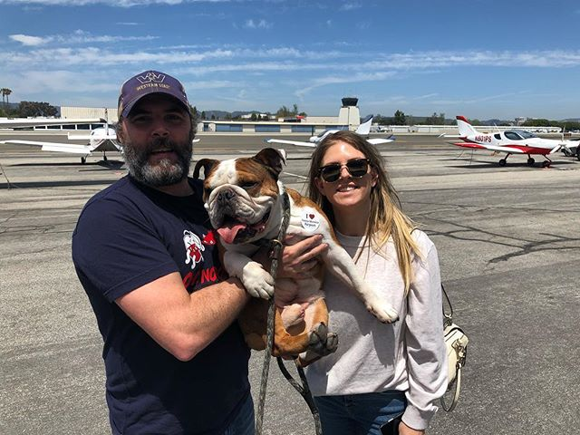 Thank you to @mrbentley_thedog for visiting @santamonicaair today with your parents.