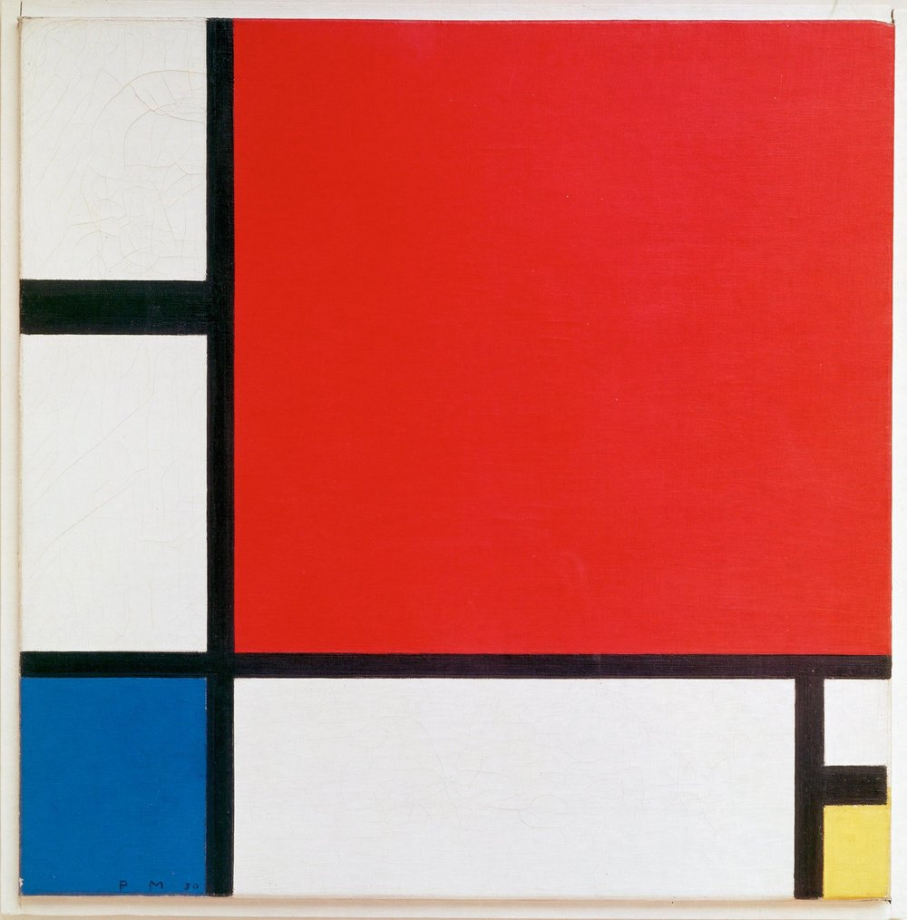 Mondrian's  Composition II in Red, Blue, and Yellow , 1930
