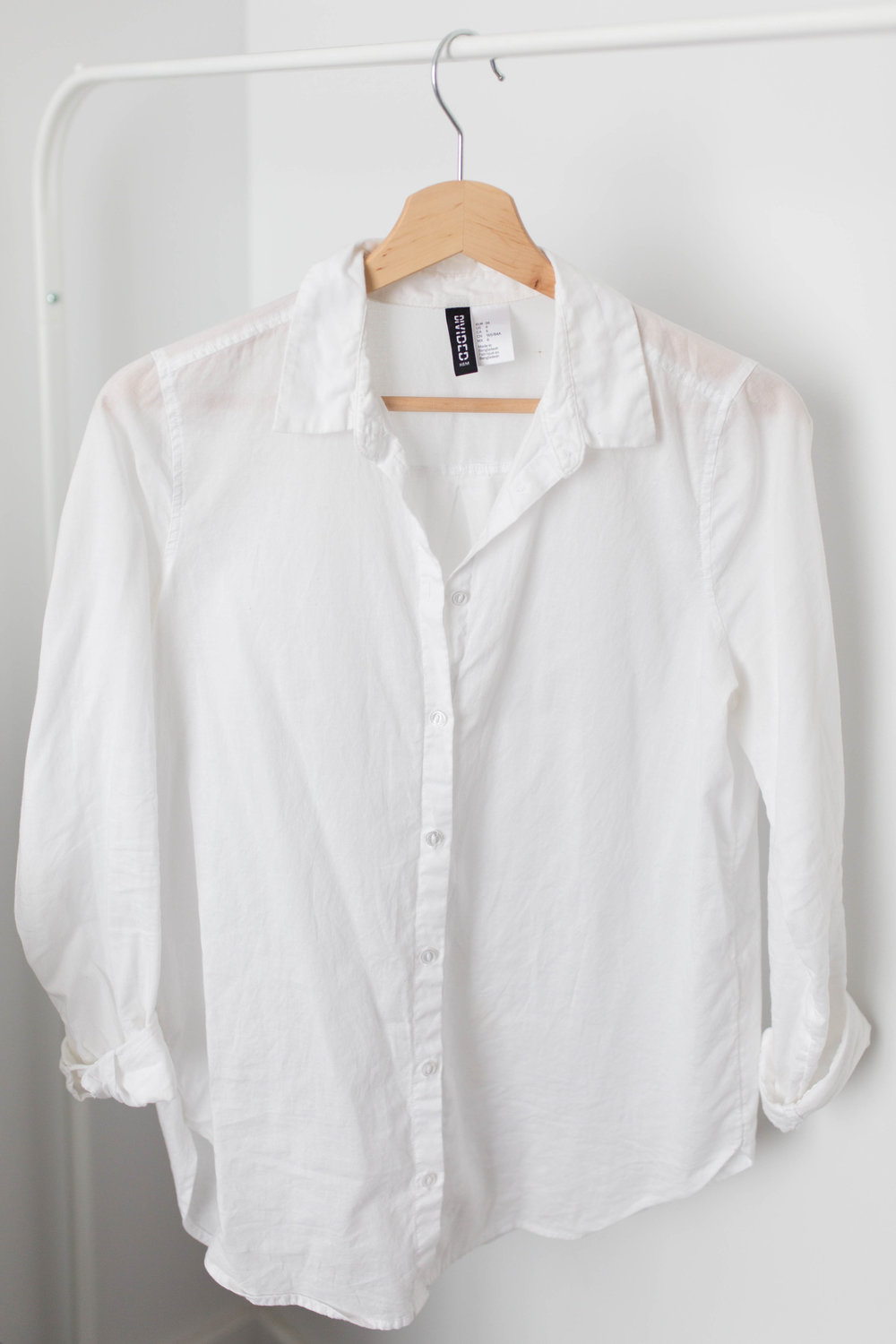 Divided White Button-down