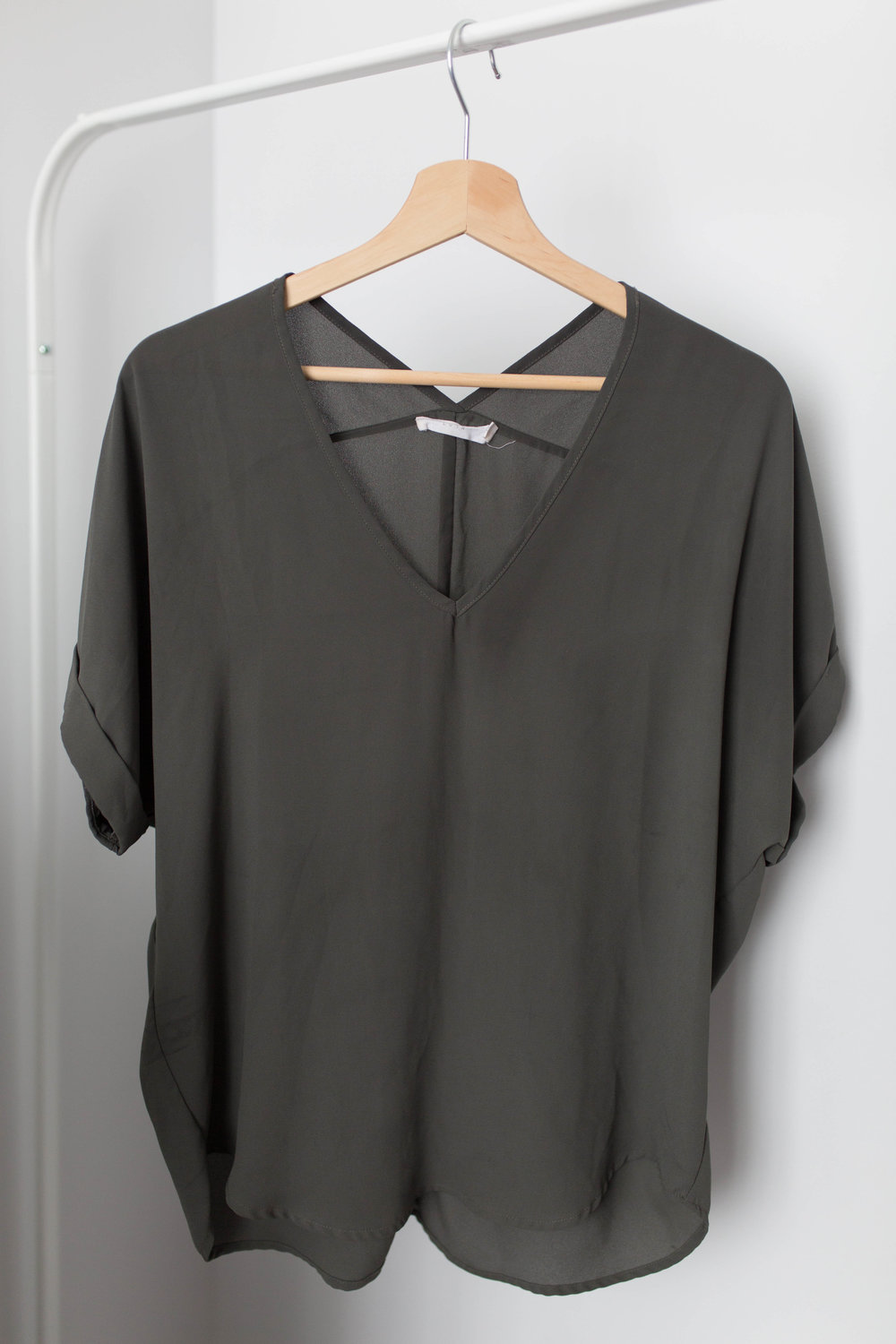 Lush Oversized Silk Blouse
