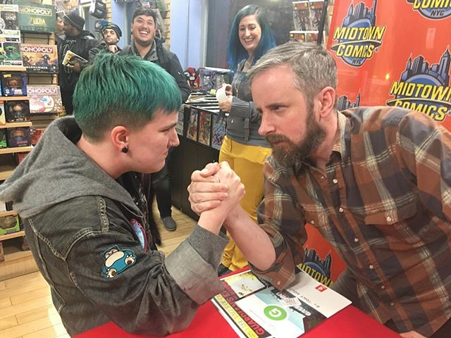 met chip zdarsky on thursday and he beat me at arm wrestling