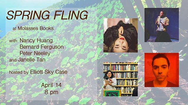 coming up soon for Poetry Month!! come thru and hear my lovely friends' poems and my terrible jokes 🌱🌱🌱🌱🌱 🌱🌱 April 14