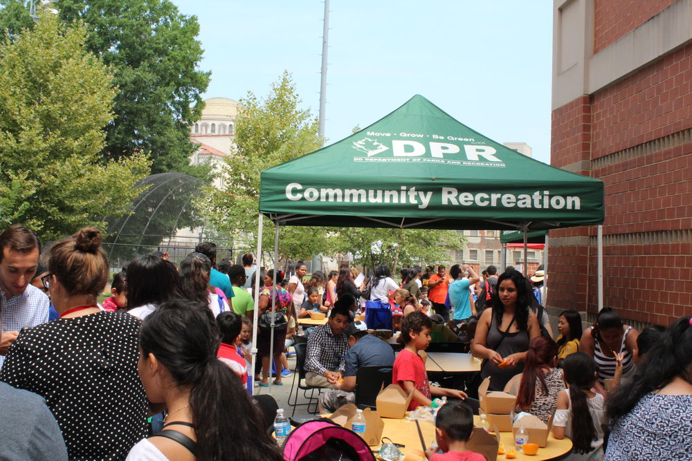 The DCPS English Learners' Back to School fair was full of activities, school supply giveaways, and a wonderful community lunch. Check to see if your community holds similar events!