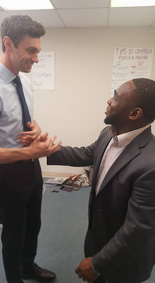 Fred with then-candidate Jon Ossoff who ran for congress in Georgia's sixth district.