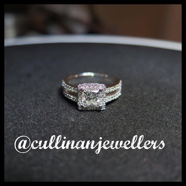 Princess cut diamond engagement ring shown here with 1 carat center diamond, finished and ready for delivery. Contact us for your very own quote #cullinanjewellers #applewoodplaza #jewelleryoftheday #jewelryoftheday #mississauaga #mississauga_igers #sauga #905 #tdot #toronto #torontofashion #torontolove #torontostyle #torontoartist #416 #customjeweller #goldsmith #jeweler #jeweller #diamondring #customring #diamonds #diamond #princesscut #engagementring #engagement #shesaidyes #diamondlife #womensfashion #bridal