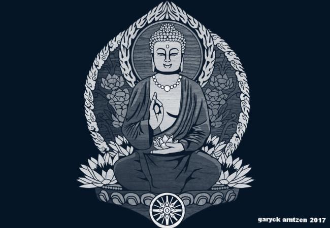 Siddhartha Gautama Buddha Halftone