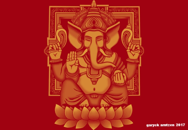 Ganesh Yellow Halftone