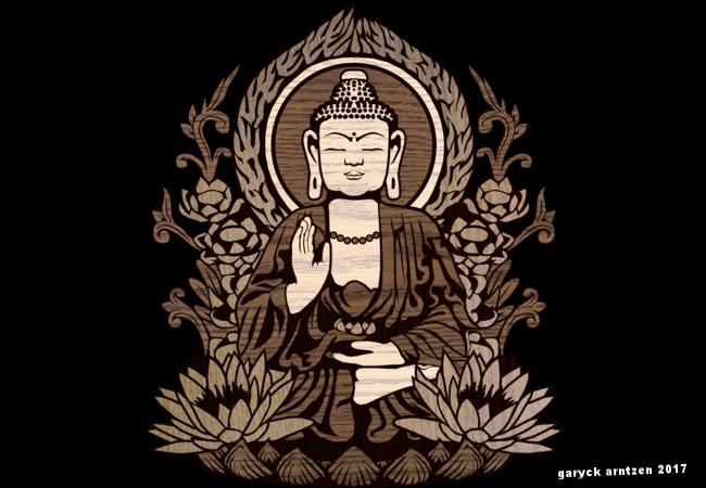Siddhartha Gautama Buddha Wood Grain