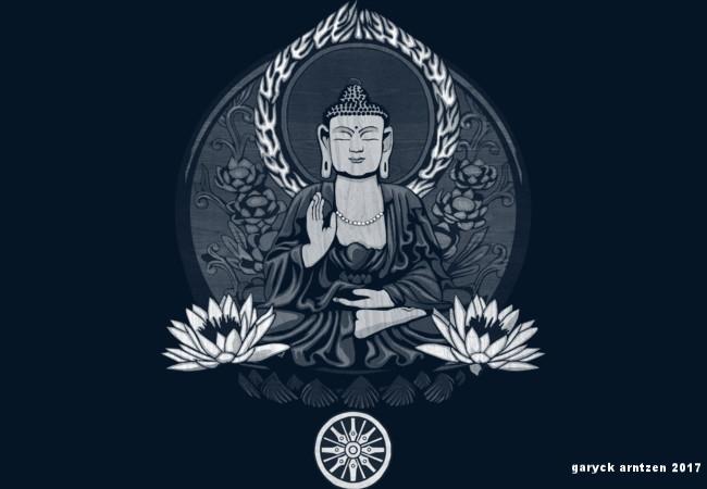 Siddhartha Gautama Buddha White Halftone