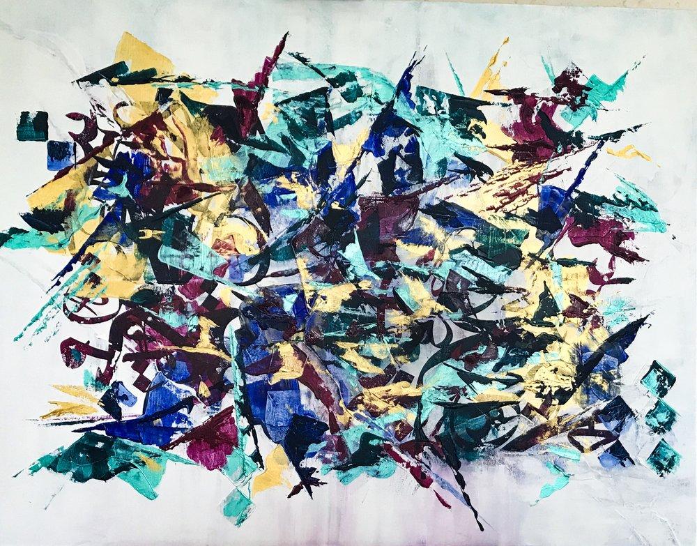 Size: 90 x 70  Medium: Acrylic On Canvas  Price:  SOLD