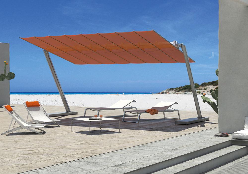 FLEXY ZEN - Sistema modulare dal design moderno e minimalista che permette di coprire grandi superfici senza ingombro centrale