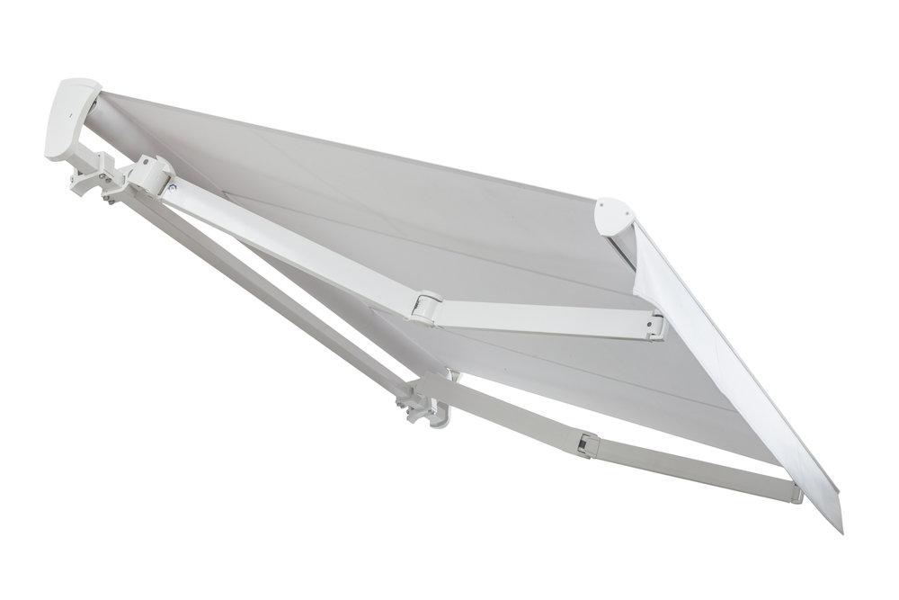 TOP LINE plus - - Concepito per la copertura di grandi spazi- Profilo rinforzato e bracci certificati TÜV- Dimensioni max (L) cm 1200 x (S) cm 400