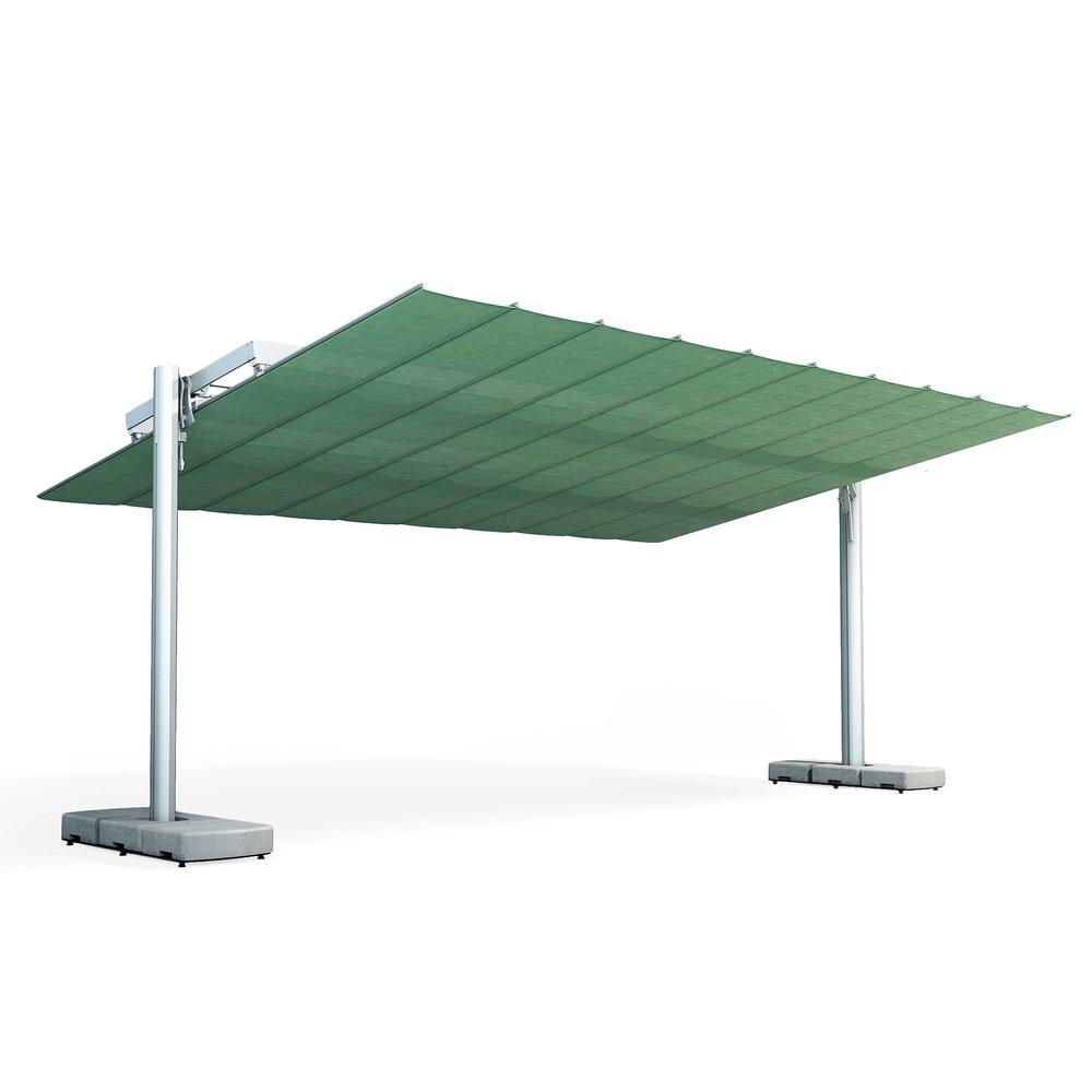 FLEXI - NOVITÀ FIM UMBRELLASLa copertura dell'ombrellone si inclina e si piega per mezzo di un sistema manuale o elettrico.