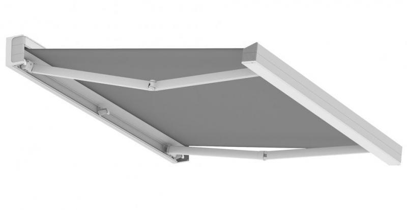 QUBICA - - Tenda con cassonetto squadrato - Progettata dall'Arch. Robby Cantarutti - Dimensioni max (L) cm 1200 x (Sp) cm 435