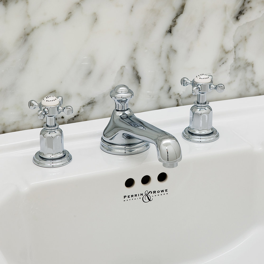 Perrin-and-Rowe traditional Three hole basin set with low profile spout and crosshead handles-3706-.jpg