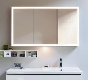 Duravit L Cube Mirror Cabinet Led Lighting 120cm Waterloo Bathrooms