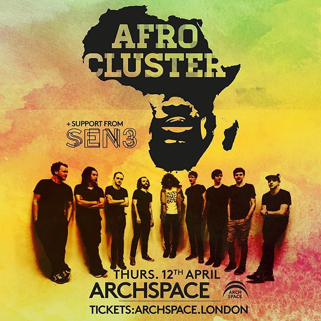 We are supporting @afrocluster at @archspace_ldn on April 12th we'd love to see you there ticket link in bio 👌🕺🌊