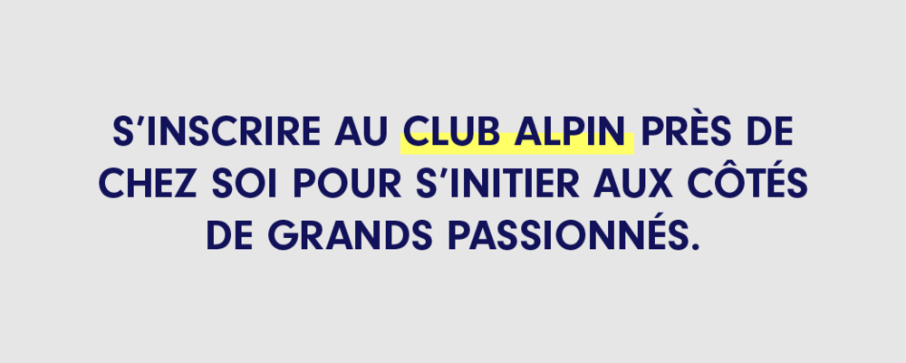 Inscription au Club Alpin