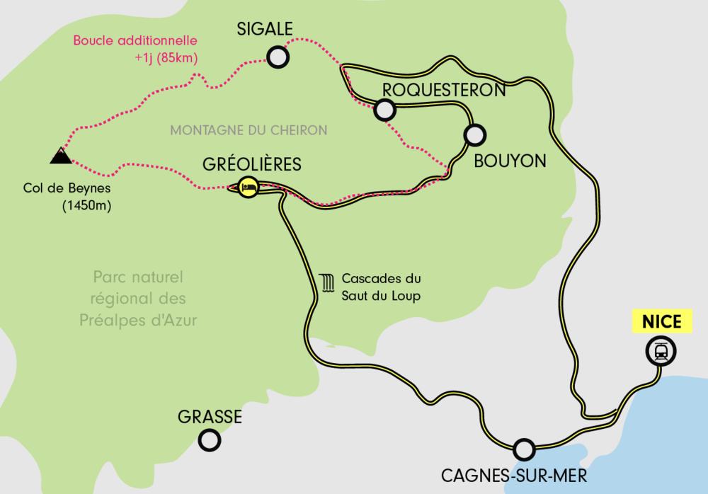 Tour des PréAlpes d'Azur à vélo