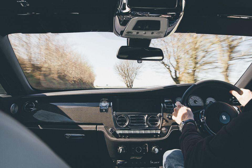 Interior photo of Rolls Royce Wraith