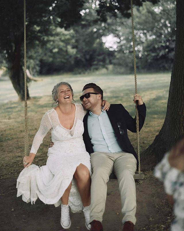 "When I look at this image I think ""Why isn't there a tree swing at  every wedding I go to!?"""
