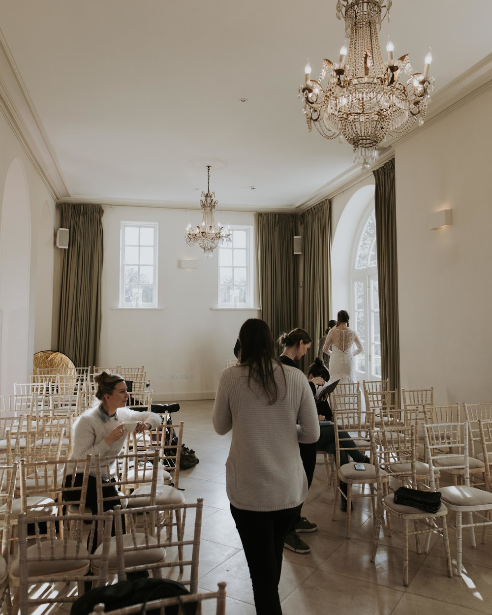 Behind the scenes in the ceremony room