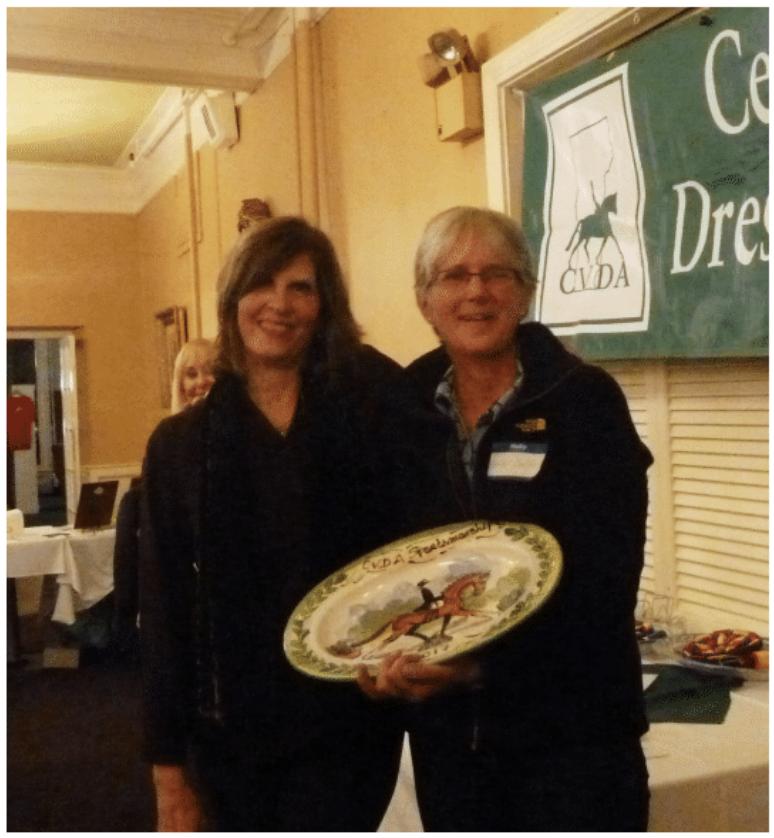 VP Terri Satterlee and 2017 Sportsmanship Award winner Deb Dean Smith.