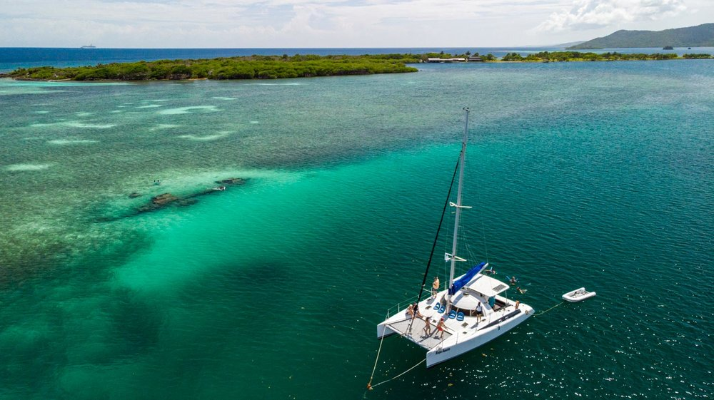 SWIM-SNORKEL-FLOAT - 3:00pm - Once we arrive at our destination inside stunning Port Royal, have it your way: lounge on the boat, enjoy a cool swim, a relaxing float, or snorkel through the colorful coral heads under the watchful eye of our expert snorkel guide.