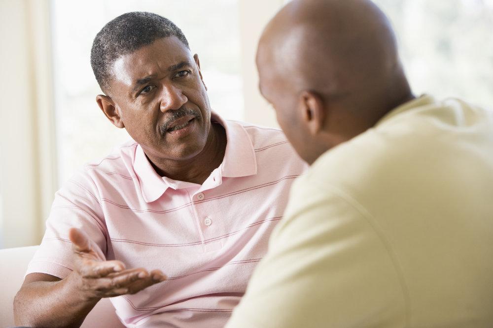 conversation about seeking professional help