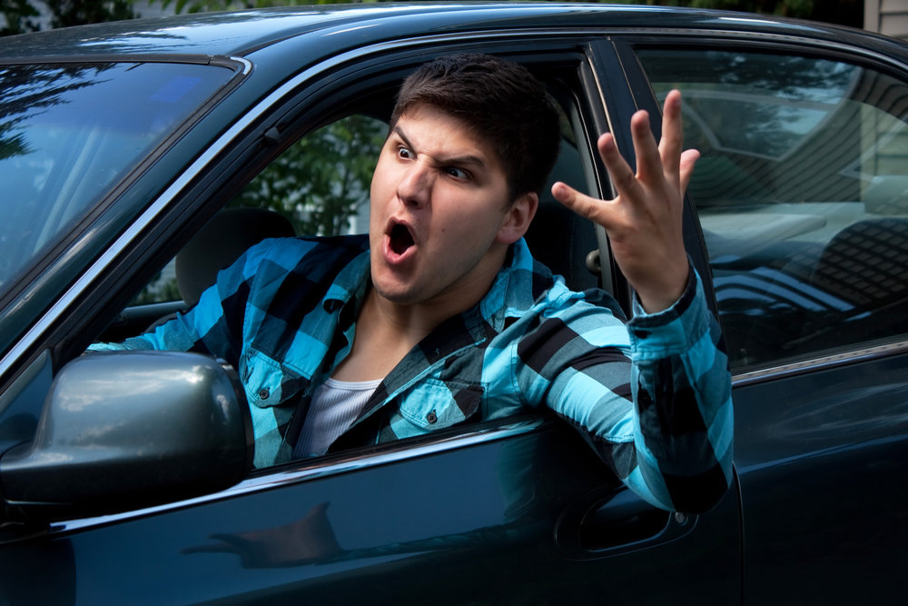 Road Rage is - an example of fear turned to anger.