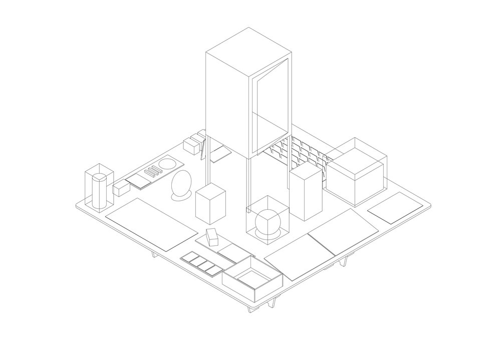 Knowledge Pearl Table - Axonometric