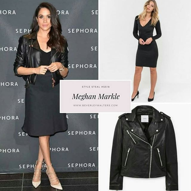 We love Meghan Markle rocking the leather jacket and classic black dress. Get the look with our best selling Megkle dress www.beverleywalters.com/shop/black-megkle-dress #beverleywalters #celebritystyle #meghanmarkle #ss18 #blackdress #blackdresscode #fashionweek #londonstyle #londonfashion #trends #leatherjacket #littleblackdresses #celebstyle #celebrityfashion #fashiondesigner #fashionlover #fashionshow #london🇬🇧 #londonstyle