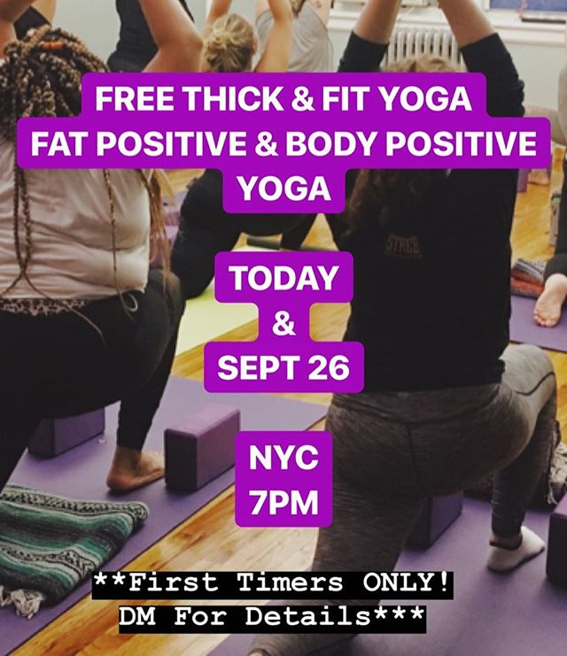DM Me!! *SERIOUS INQUIRIES ONLY* . . . #fatacceptance #celebratemysize #dietculture #bodypositivity #fatpositive #yoga #yogaforall #fatyoga #bodypositiveyoga #selflove #nyc #brooklyn #harlem #queens #newjersey #manhattan #newyork #effyourbeautystandards #effyourbodystandards
