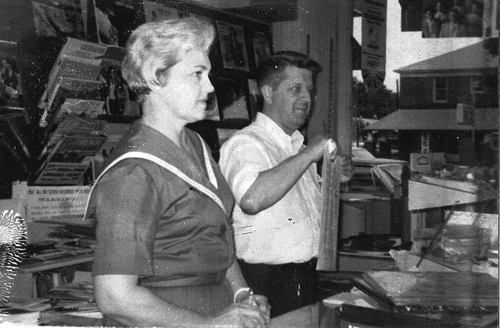 Kathleen and Sumter Bruton II at Store in 1961.