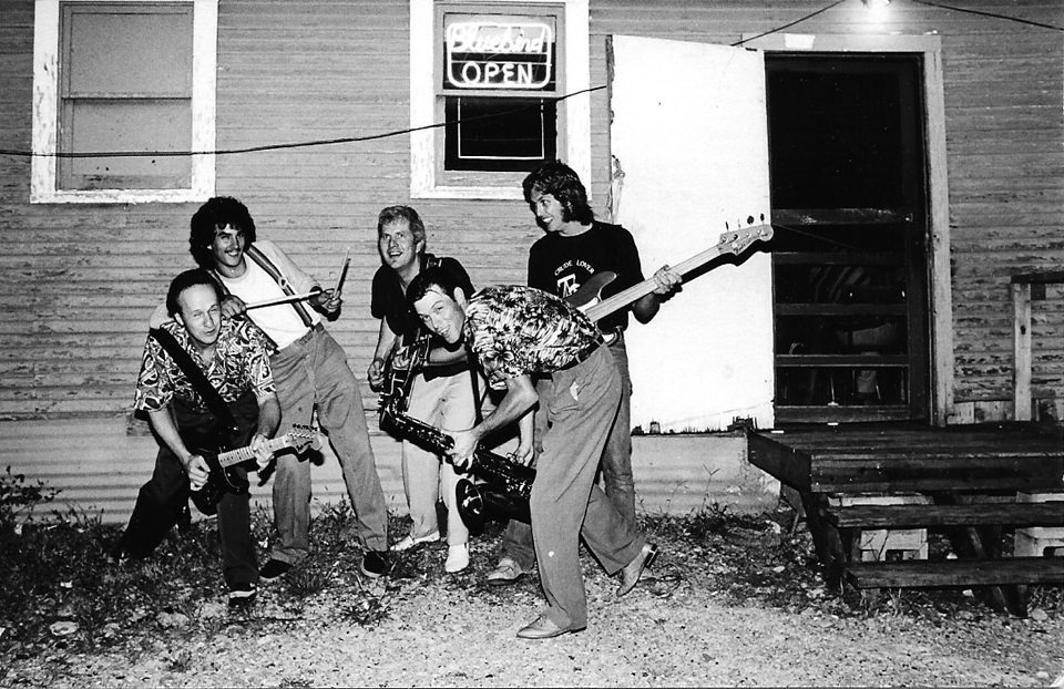 Juke Jumpers Outside the Bluebird Club in Fort Worth, TX in 1979