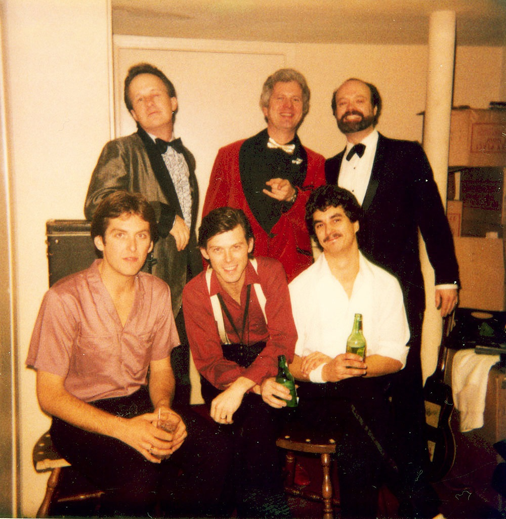 Juke Jumpers Posing Backstage in 1981