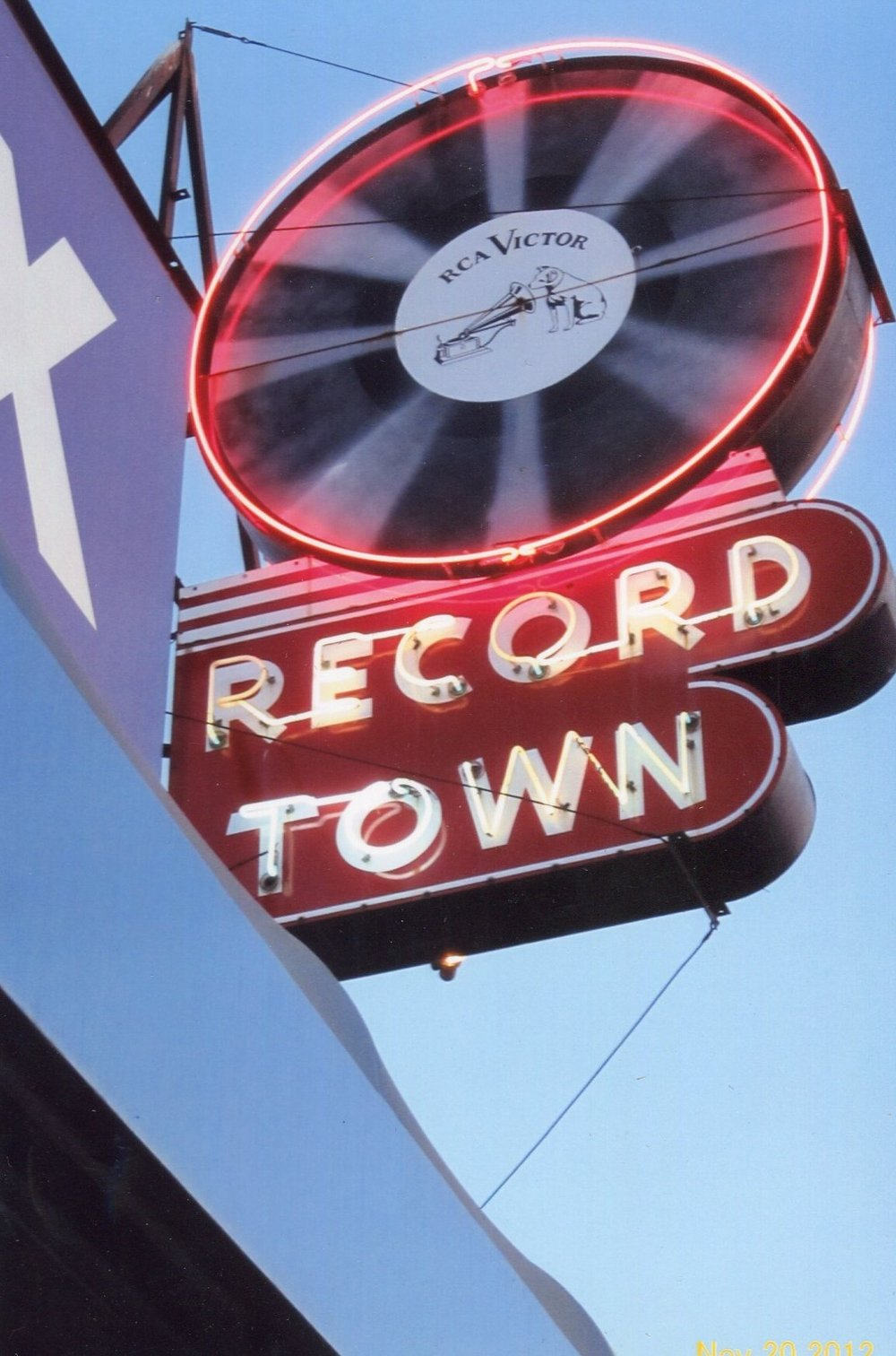 Record Town Neon Sign in the Day 1.jpg