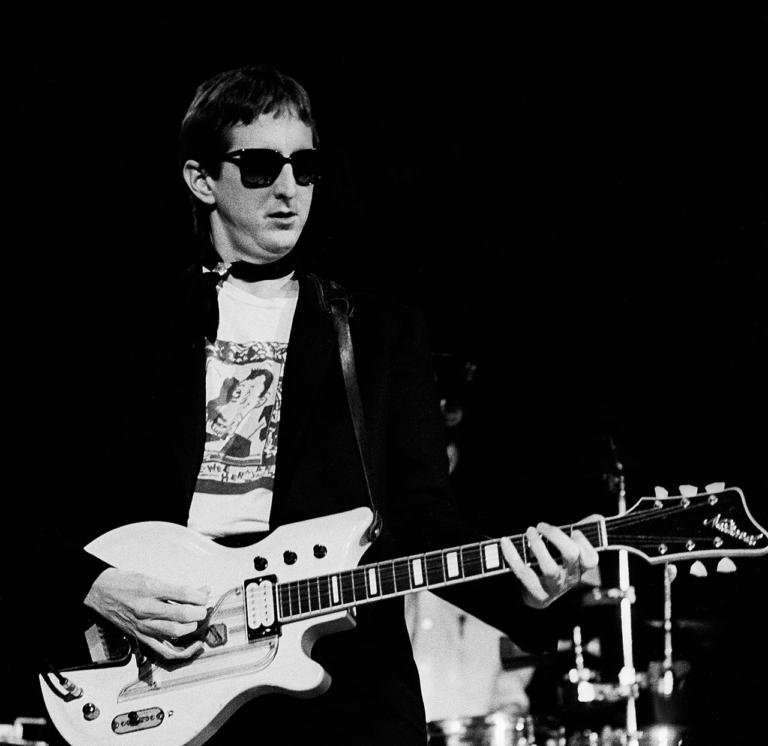 T Bone Burnett opening for the Who at the International Ampitheater on October 5, 1982, in Chicago.