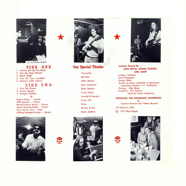 Back Cover – Robert Ealey and His Five Careless Lovers – Live at the New Blue Bird Nite Club (1973)