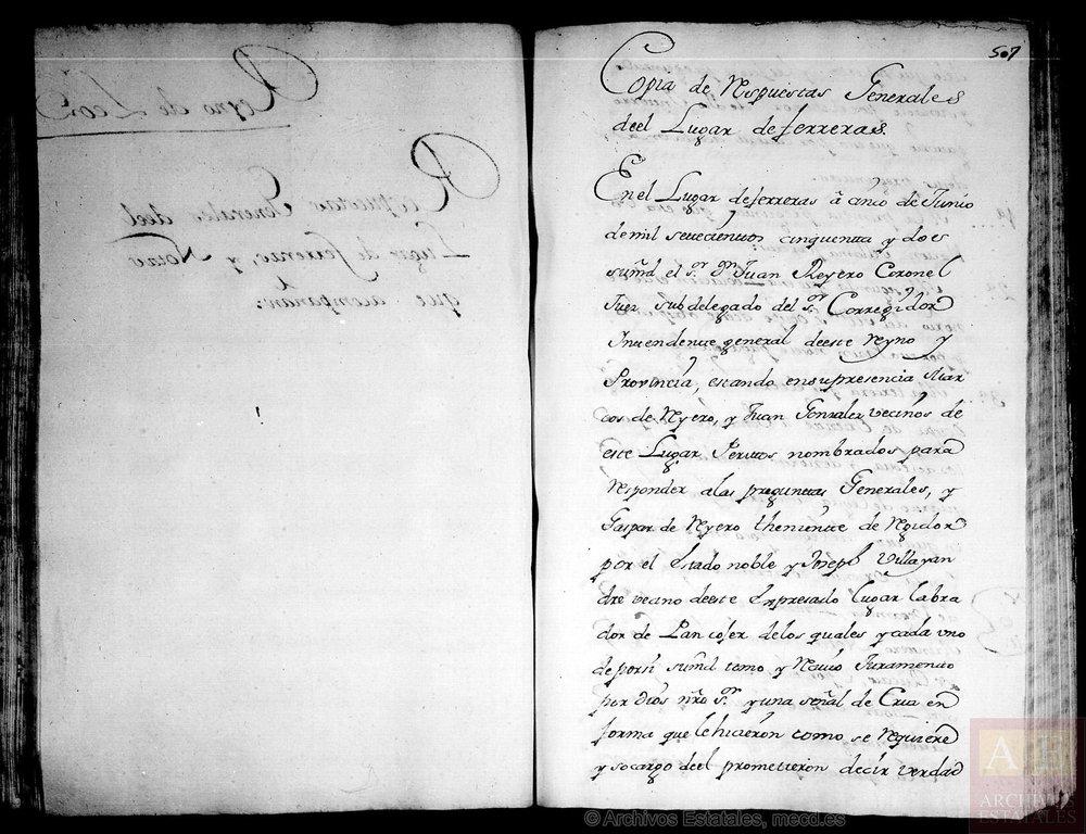 Catastro del Marqués de la Ensenada, Ferreras de Vegamián, Portal de Archivos Españoles.