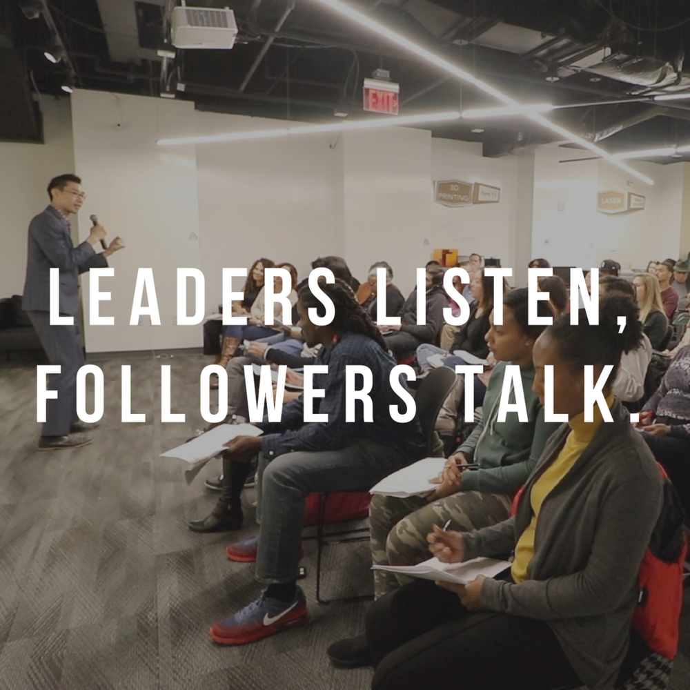 Leaders Listen, Followers Talk. - Exceptional leaders understand how to harness the power of listening to make their co-workers, customers, friends and family members feel like they matter. Only when we truly listen, we stand out as leaders and more importantly, we help others stand out by giving them a voice. Understand the dynamics of effective listening and how you can use listening as your most important power of influence to build stronger rapport and trust in all of your relationships.Length/Format: 30 min - 2 hourskeynote/mainstage/breakout/interview/workshop