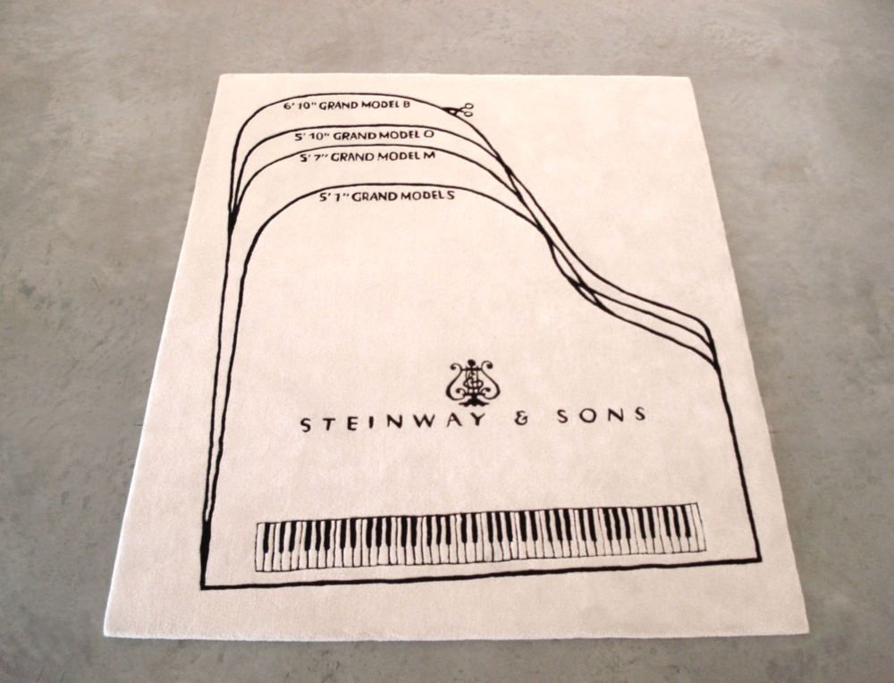 Barbara Bloom,  Steinway Piano Carpet  (2010). Courtesy of David Lewis Gallery, New York.
