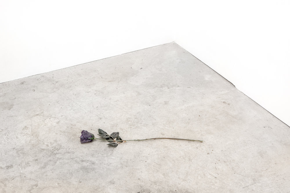 Alex da Corte, artifact from a performance,  Free Roses  (2013). Photo: Daniel Hojnacki.