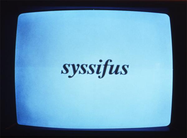 Kay Rosen,  Sisyphus , 1991. Courtesy of Krakow Witkin Gallery.