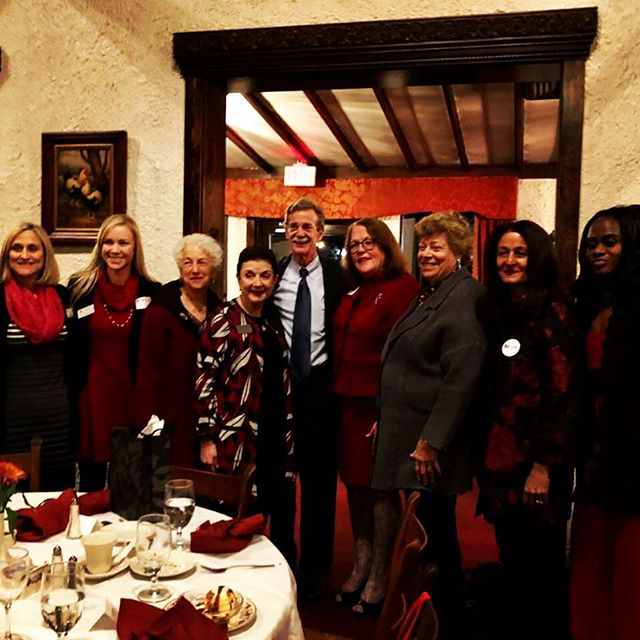 @WomansDemClub dinner with @BrianFrosh with many in the audience wearing RED for #NationalEqualPayDay last night.